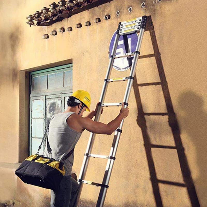 2021Alloy Aluminium Folding Retractable Multifunctional Telescopic Extension herringbone Ladder Drywall Home Tools 2m Ladder