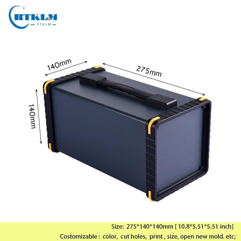 صندوق من الألومنيوم لتقوم بها بنفسك علبة توزيع إلكترونيات إلكترونية علبة ألومنيوم مخصصة الإسكان صندوق وصلات أداة الألومنيوم 275*140*140 مللي متر