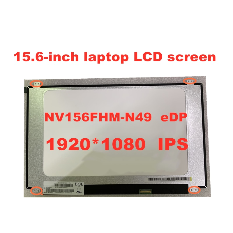 NV156FHM-N49 IPS dorigine V8.0 NV156FHM N49 V8.2 écran LED matrice LCD 15.6 pouces 30 broches FHD 1920X1080 Edp écran LCD