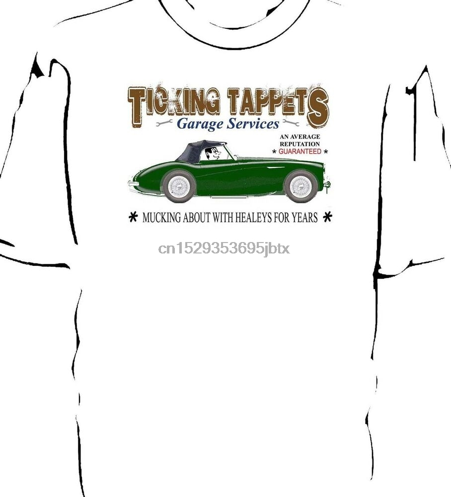 Camiseta de tic-tac, servicios de garaje Austin augen Healey 1004