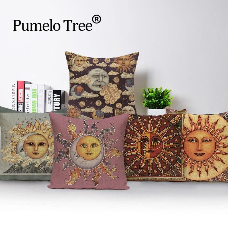 Picasso fundas de cojines simples sol Dios lunar Funda de almohada cubierta...