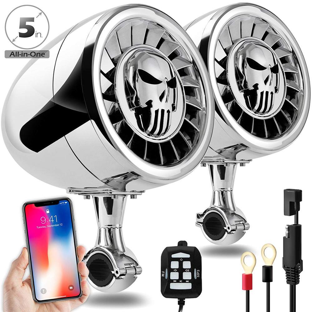 Aileap Hohe Leistung 5 Zoll Wasserdichte ATV/UTV/RZR Motorrad Bluetooth Lautsprecher Schwere Bass Boot Audio System AUX MP3