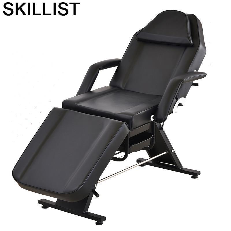 Muebles dentales Para salón De belleza, Cama De masaje Plegable, tatuaje