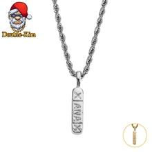 XANAX pendentif collier hommes Hip-Hop Rock Street Culture titane acier inoxydable or argent chaîne collier mode homme bijoux