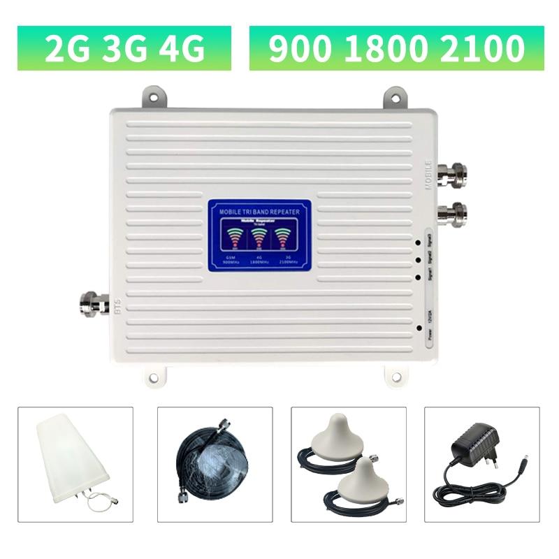 Усилитель сигнала сотовой связи 2G 3G 4G, трехдиапазонный ретранслятор GSM DCS WCDMA 900 1800 2100, 2 антенны в комплекте | Мобильные телефоны и аксессуары | АлиЭкспресс