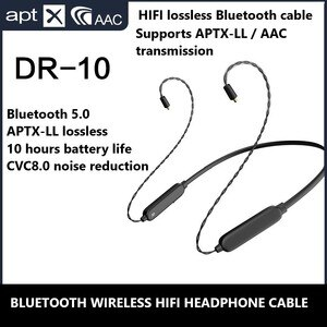 Aptx AAc Bluetooth 5.0 HIFI Headphone Cable Mmcx 0.78 IE80 IM50 IE40 PRO A2DC Lossless Upgrate Cable for Sennheiser Shure ATH