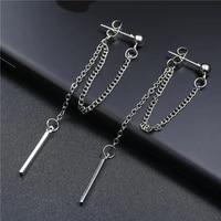 long tass dangle earrings for women double tassel chain drop earrings fashion jewelry gifts
