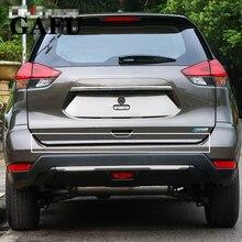 Nissan x-trail XTrail ROGUE T32 2017 2016 2015 2014   Autocollant de porte arrière de hayon en acier inoxydable, 1 pièces, accessoires de voiture