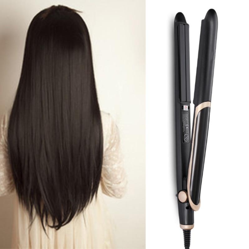 Professional LED Display Hair Straightener Curler Hair Iron Negative Ion enlarge
