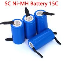 1,2 никель металл гидридный аккумулятор с напряжением SC 2000 мА/ч, 21410 Перезаряжаемые батарея для пылесоса уборочная машина Дрон электрический сверлильный аккумулятор DIY никелевый лист