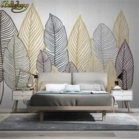 beibehang custom modern wallpapers for living room blackboard background plant leaves mural wallpaper home decor 3d wall paper