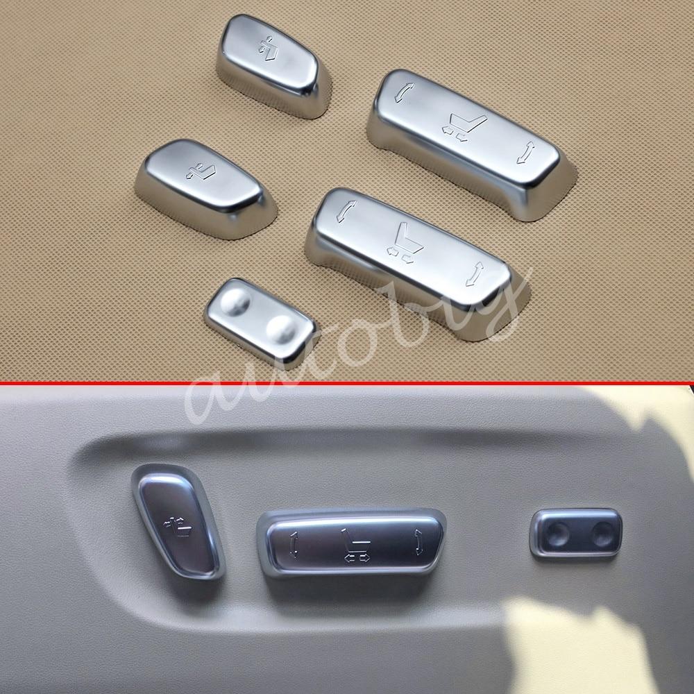 Cubierta de ajuste de asiento cromado para Toyota Alphard Vellfire 2016-2019 accesorios de ajuste Interior