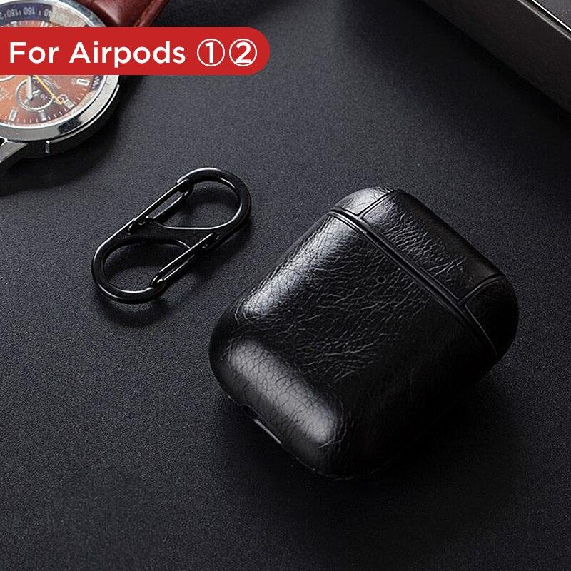 Для Air pods беспроводные bluetooth наушники чехол для Apple Airpods аксессуары кожаный чехол зарядная коробка для Airpods чехол Funda чехол