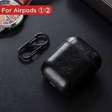 Luxury Leather Soft Earphone Case For Airpods 1 2 Charging Box Cover Wireless Headphone Cases For Apple Air Pods 2nd