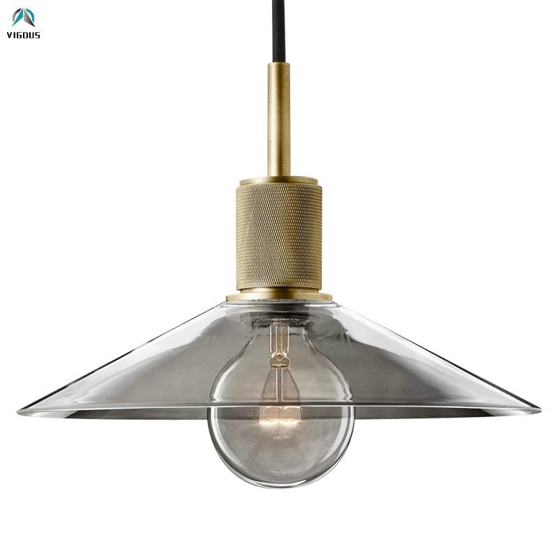 Lámpara colgante RH American Loft Edison Led E27, lámparas Luminarias de Material dorado, globos de vidrio Led, lámpara colgante, lámpara suspendida