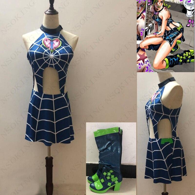Anime dziwna przygoda JoJo Cosplay Jolyne Cujoh Kujo sukienka kostium wykonane na zamówienie