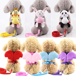 Pet Dog Leashes Belt Angel Chest Strap Rope Wings Cartoon Doll Small Dogs Traction Cat Traction Adjustable Rope Pet Supplies
