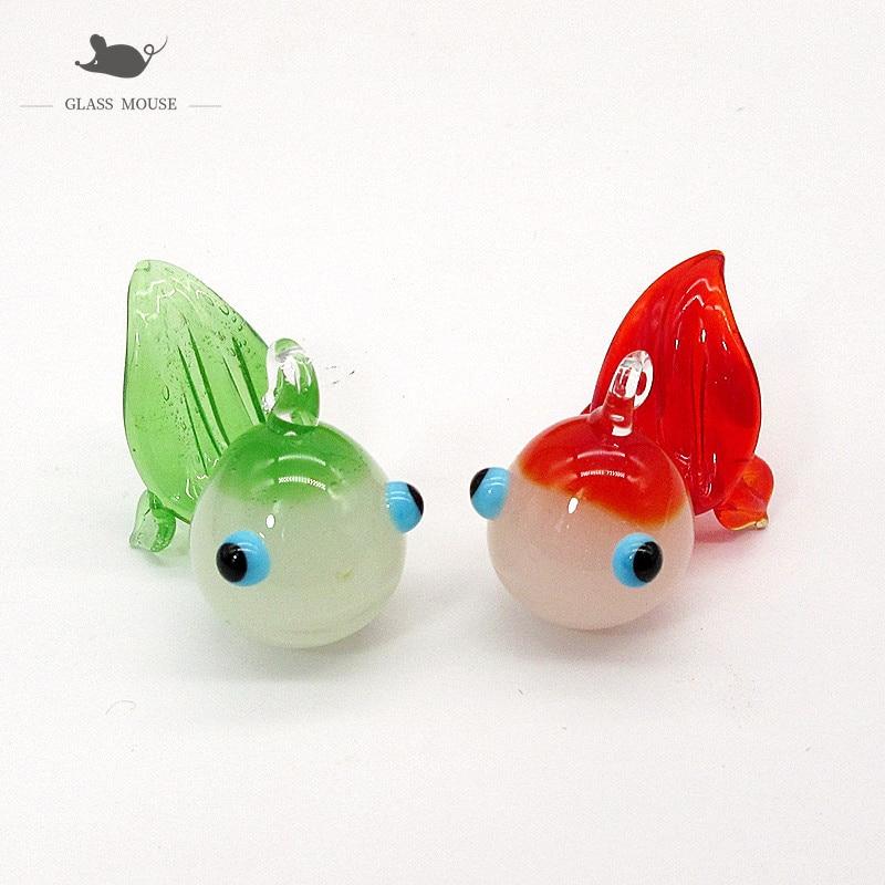 Custom colorful Handmade Murano glass Clown fish ornament Pendant Home Aquarium decor JAPAN STYLE Mini Cartoon animal Figurine  - buy with discount
