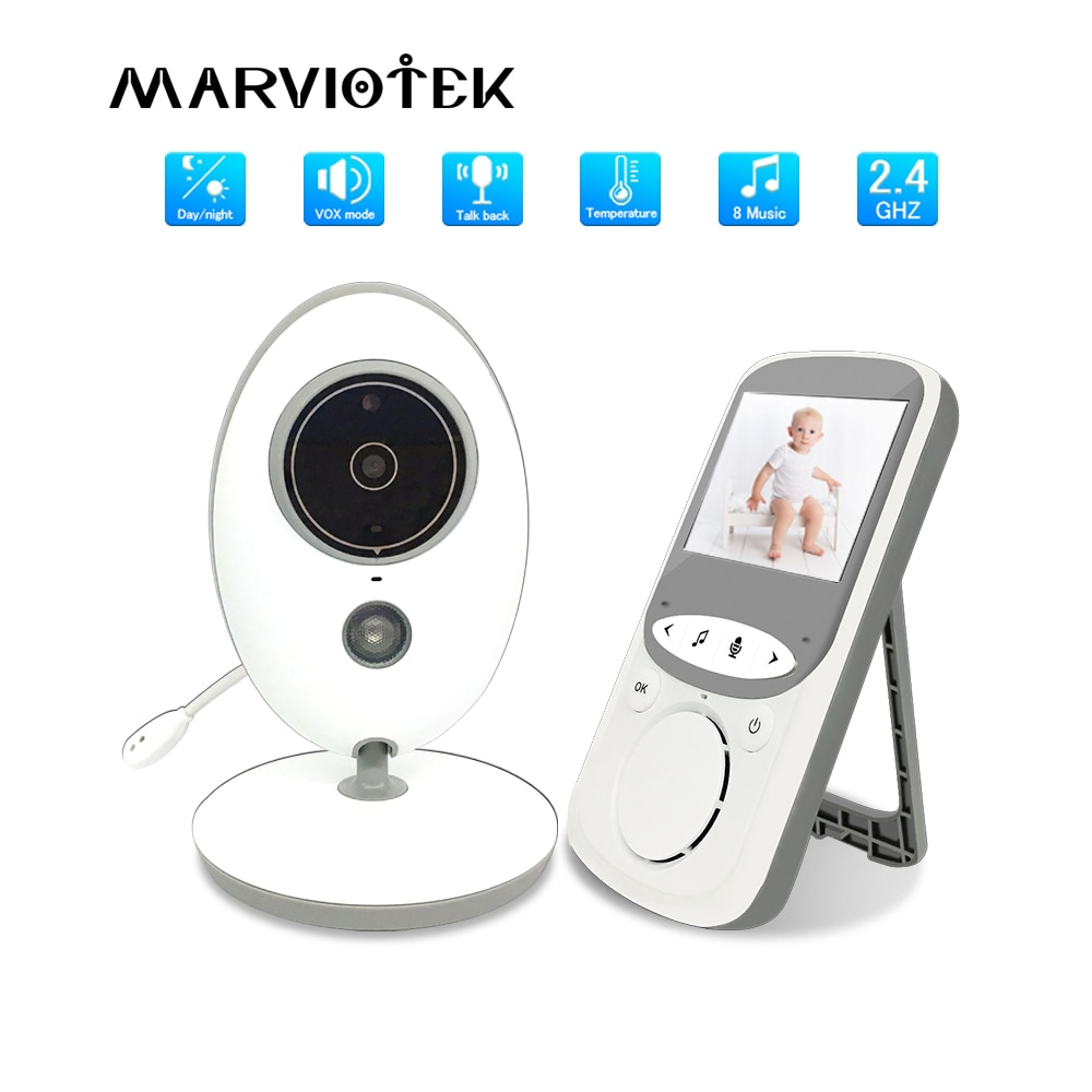 Baby Monitor with Camera Wireless Music Intercom IR Audio Video Nanny Camera Temperature Monitoring babysitter VB605 baby phone
