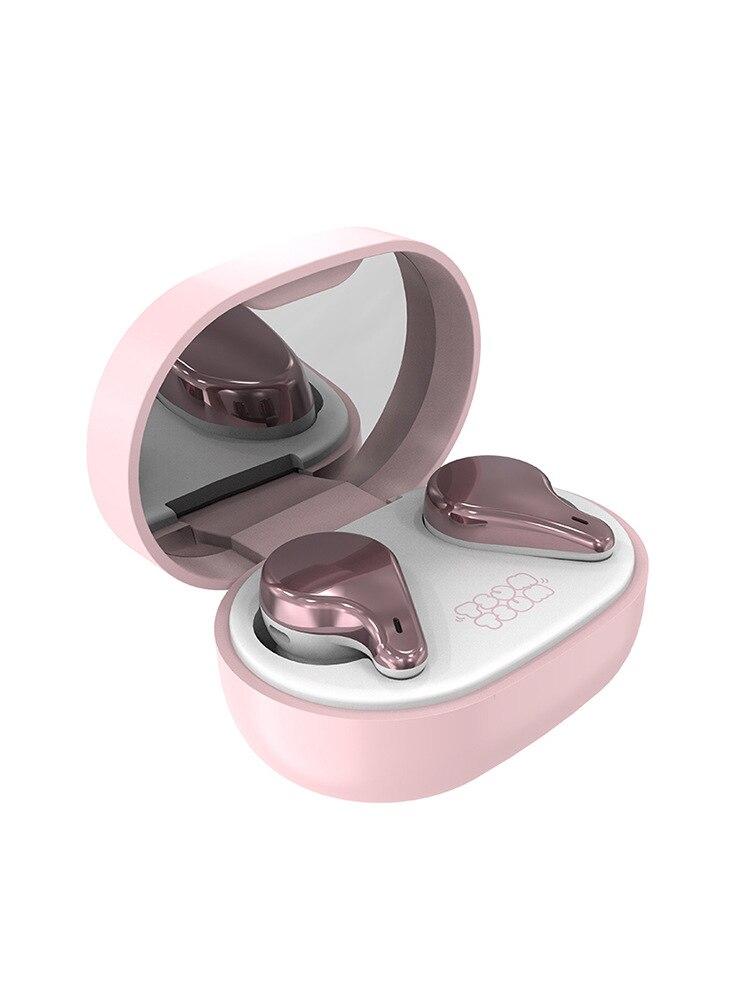 2021 Disney cute cartoon Minnie makeup mirror wireless bluetooth headset in-ear sports running music call earbuds headset enlarge