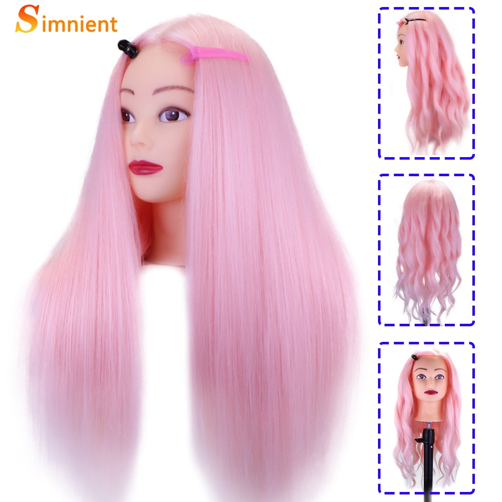 Simnient Mannequin Heads For Hairstyles Mixed 85% Real Human Hair For Doll Hairdressing Maniquin Training Dummy Head For Styling