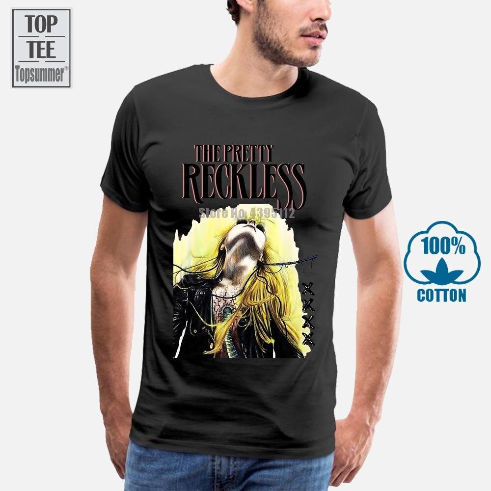 Camisetas de arte The Pretty Reckless para hombres, Camiseta de algodón negro, camiseta de moda, camiseta Original de manga corta para hombres