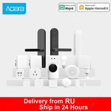 Aqara Kits de maison intelligente Hub de passerelle Zigbee commutateur sans fil capteurs de porte deau dhumidité humaine télécommande intelligente pour la maison Xiao Mi