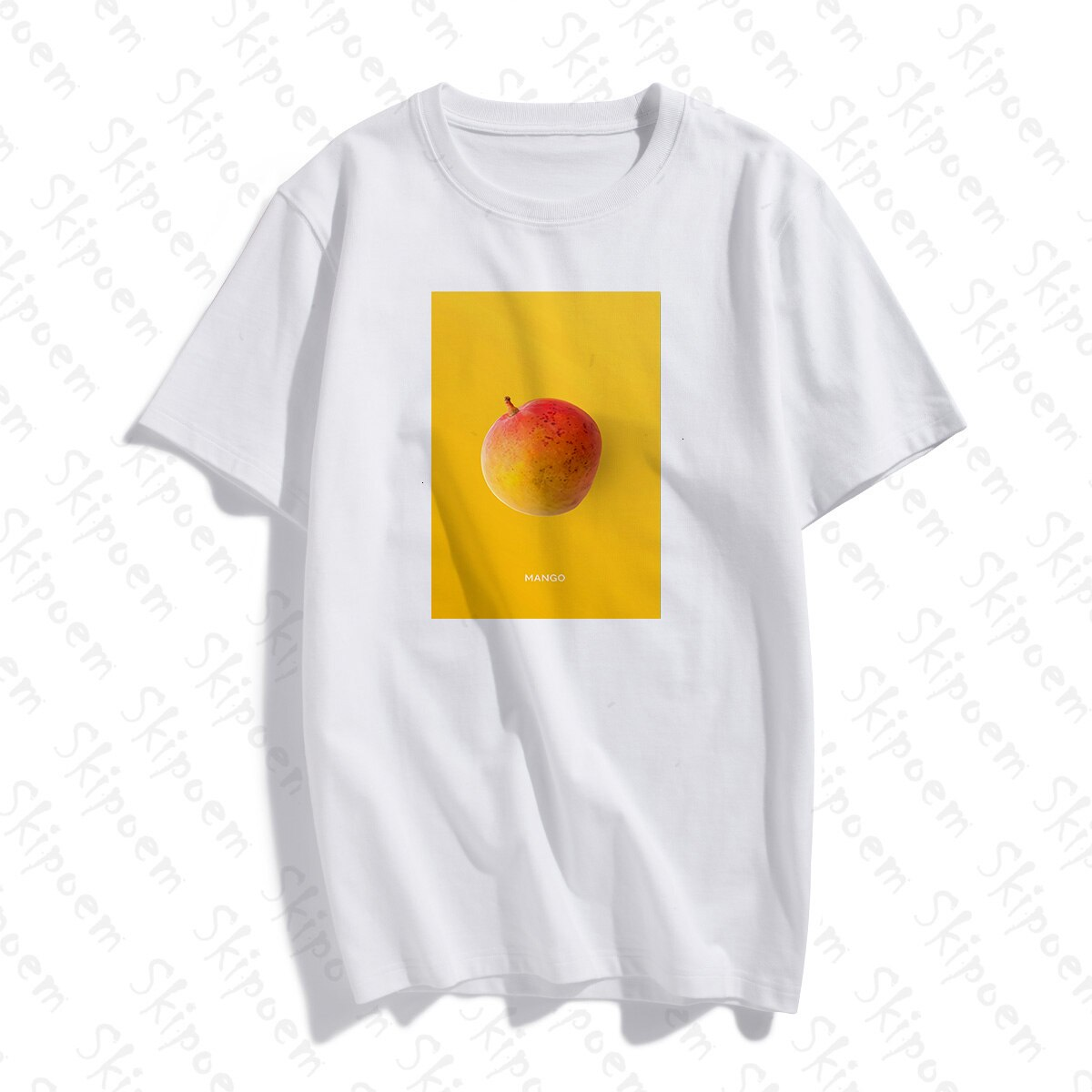 Fruta arte Mango camiseta mujer Vintage estilo coreano estético Kawaii Punk Tumblr algodón de talla grande ropa de manga corta ropa de calle