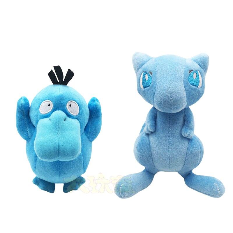 Pokemon recheado dos desenhos animados psyduck mewtwo brilhante boneca macio brinquedo de pelúcia presentes de natal