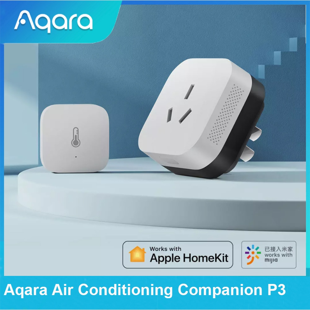 Aqara Air Conditioning Companion P3 with Temperature Humidity Sensor Zigbee 3.0 APP Remote Control Work Mijia APP Apple HomeKit top class universal car air suspension control system with pressure sensor support bluetooth remote and wire control app control