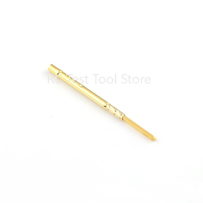 Купить с кэшбэком 100Pcs/Lot R75-2W Brass Flat Head Pin For PCB Testing Spring Test Probe Pins Receptacles Dia 1.32mm Length 24.5mm Without Spring