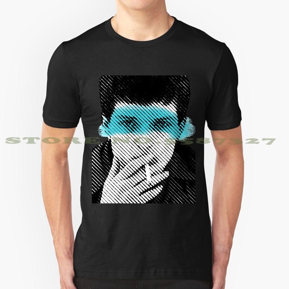 Camiseta divertida Ian Curtis de verano para hombre, mujer, Ian Curtis, Joy Division Pop Art Stencil Icon, artista músico Acrílico