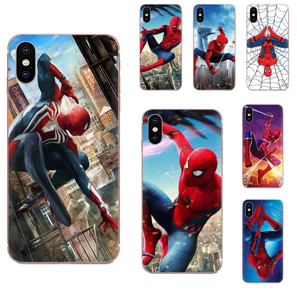 Marvel Comics Spider-man para LG K50 Q6 Q7 Q8 Q60 X Power 2 3 Nexus 5 5X V10 v20 V30 V40 Q TPU llamada caja