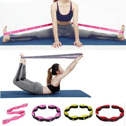 Bandas de resistencia de Yoga de entrenamiento en casa bandas elásticas de pierna banda para Ballet correa de estiramiento Yoga ejercicio pie Camilla