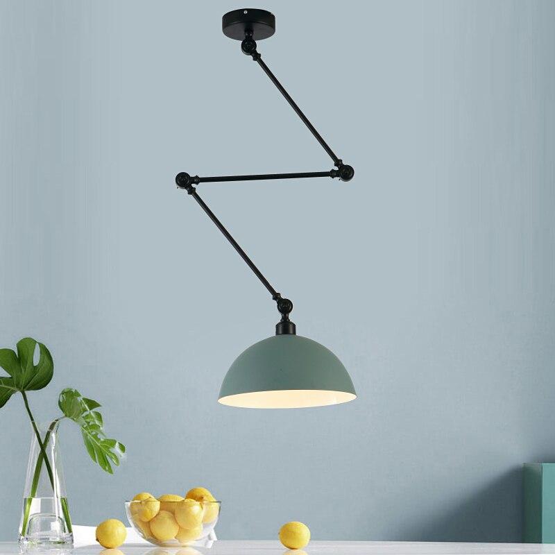 مصباح معلق بذراع طويل قابل للتعديل من الألومنيوم ، تصميم شمالي ، مصباح سقف LED لغرفة المعيشة ، غرفة النوم ، غرفة الطعام