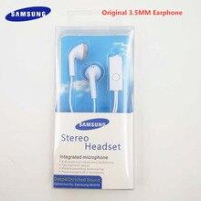 Oryginalny SAMSUNG Galaxy S6 S7 słuchawki 3.5mm przewodowe słuchawki muzyka w linii sterowania + Mic dla S8 S9 S10 Plus S10E A20 A30 A40 A50