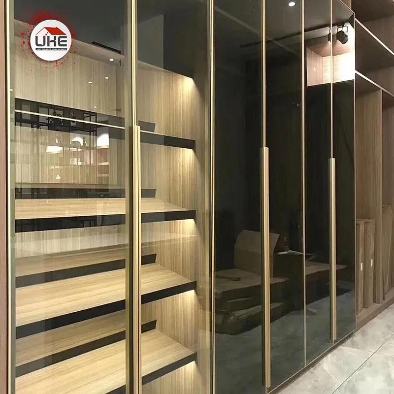 UKE – cadre de porte d'armoire en aluminium, forme carrée, avec poignée intégrée