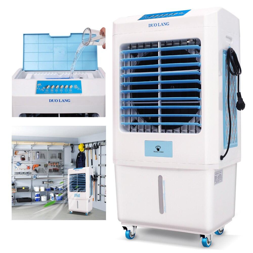Enfriador por evaporación portátil para interior y exterior DUOLANG 2059 CFM con ventilador de torre, aire acondicionado, humidificador y soplador para