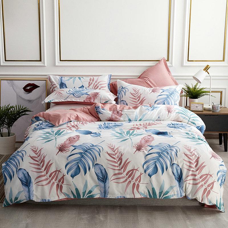 Queen size Pastorale style Cotton Bedding Set Duvet Cover Bedspread Flat Sheet  Pillow Cases Bed Line 4pcs High quality
