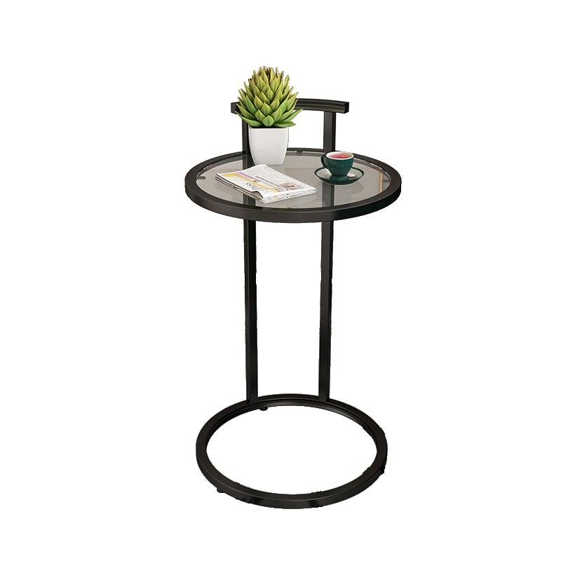 Mesa auxiliar pequeña de Metal Simple, mesa redonda de esquina de hierro,...