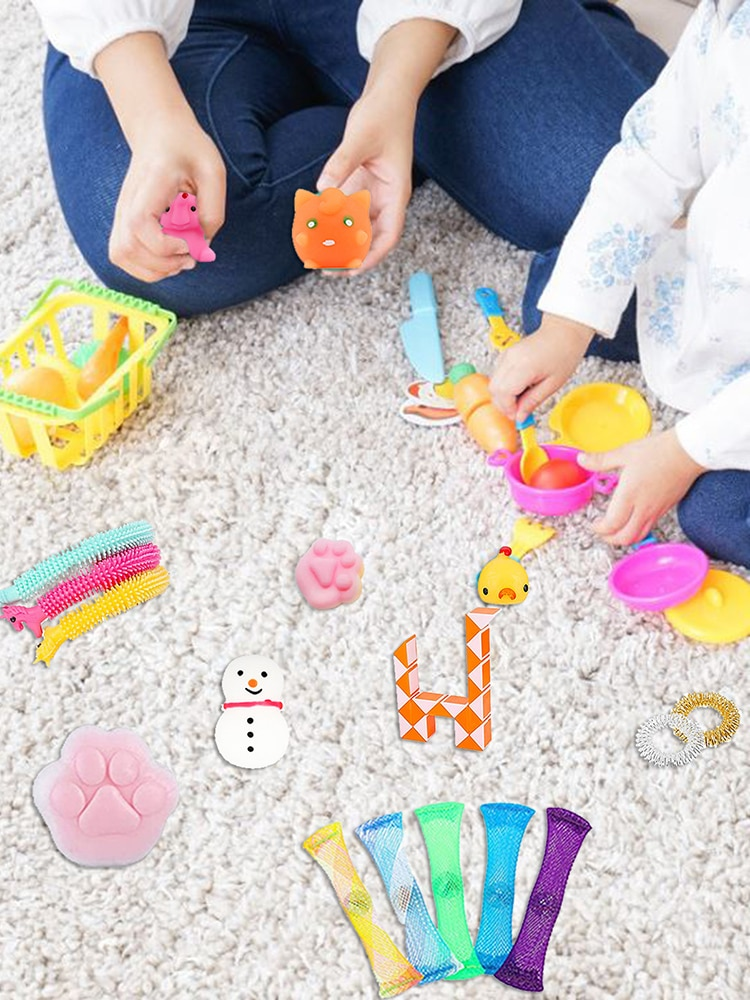 Stress Relief Hand Toys Sensory Squeeze Toy Set for Kids Adults  Stress relief and anxiety elimination tool set enlarge