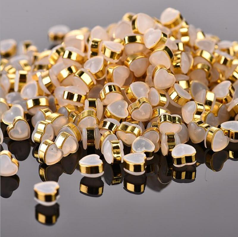 50Pcs/pack Wholesale Classic Heart Soft Silicone Copper Earring Ear Plug For Women Men DIY Parts Jewelry Accessories