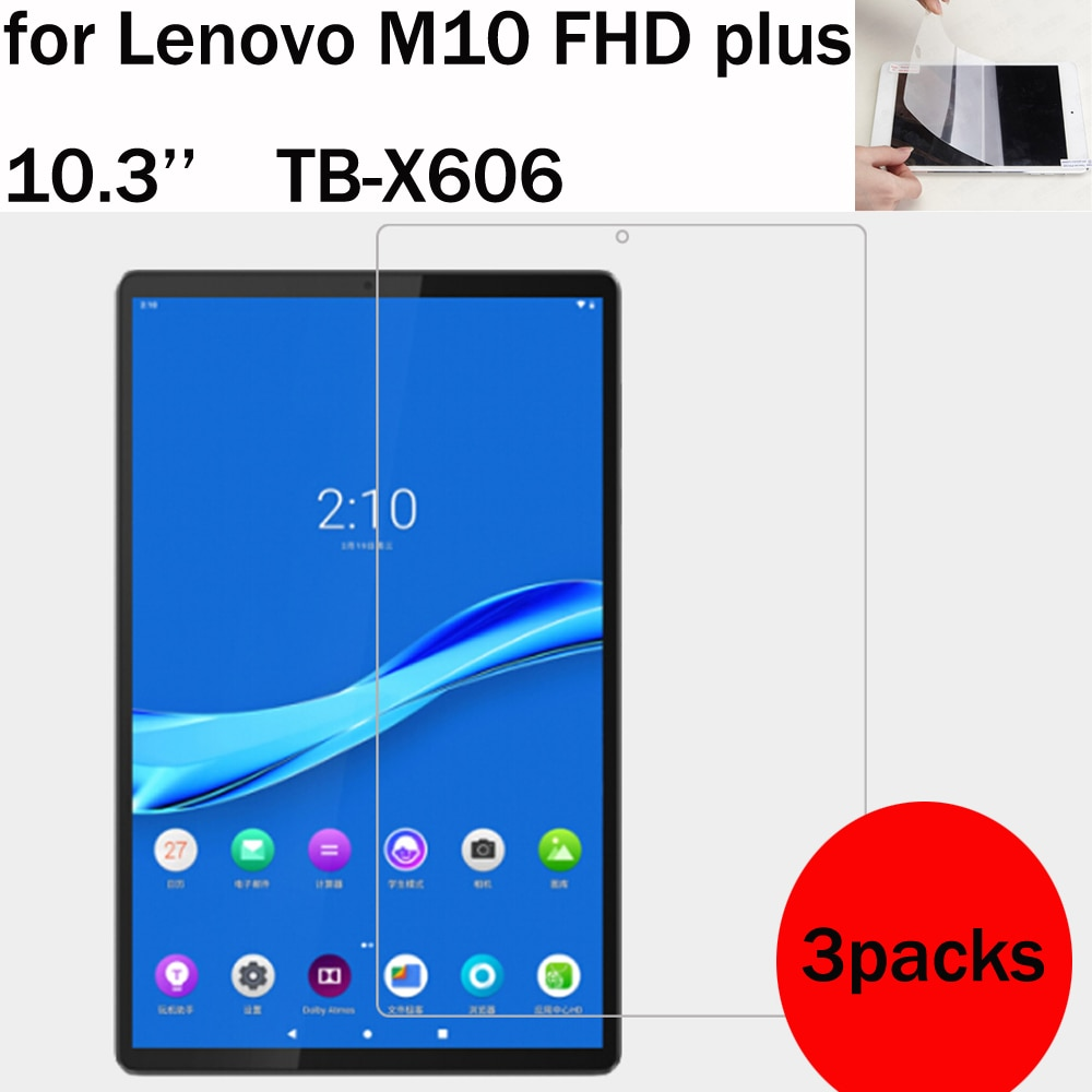 3 Packs soft screen protector for Lenovo tab M10 FHD plus TB-X606 10.3'' M7 M8 HD Gen 2 TB-X306 TB-7