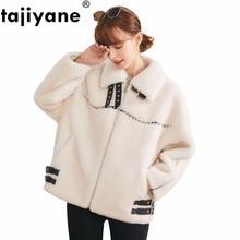 Manteau dhiver femmes court mouton veste de cisaillement femme manteau de fourrure naturelle Vintage Streetwear laine vestes coréennes manteaux Hiver BL9857