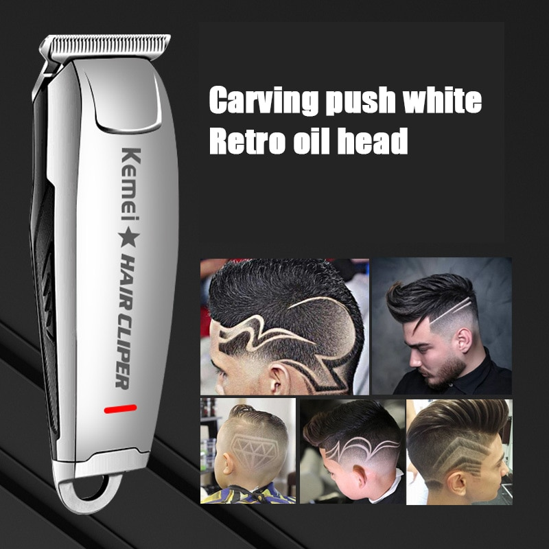 Kemei Mini Hair Clipper 0mm Electric Trimmer Professional Haircut Shaver KM-2812 Carving Hair Beard Trimer Machine Styling Tools enlarge