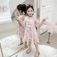 teens girls dress summer chiffon floral kids dresses for girls fashion children princess dress girls clothes 4 6 8 10 12 years
