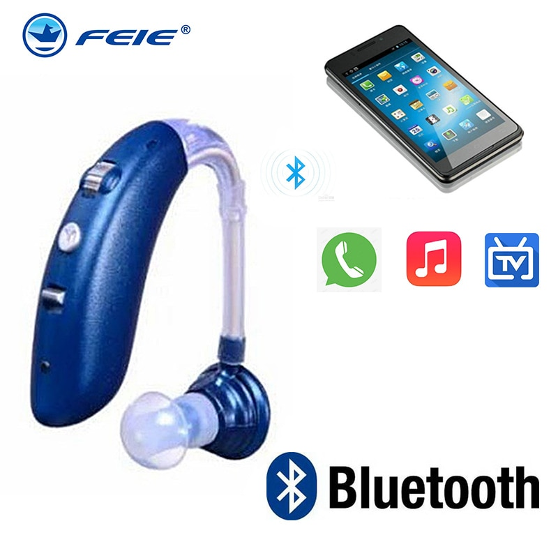 ite hearing aid invisible rechargeable usb charging low noise elderly deaf amplifier hearing aids S-25A Rechargeable Bluetooth USB Mini Digital Hearing Aids Adjustable Tone Sound Amplifier Hearing Portable Deaf Hearing Aid