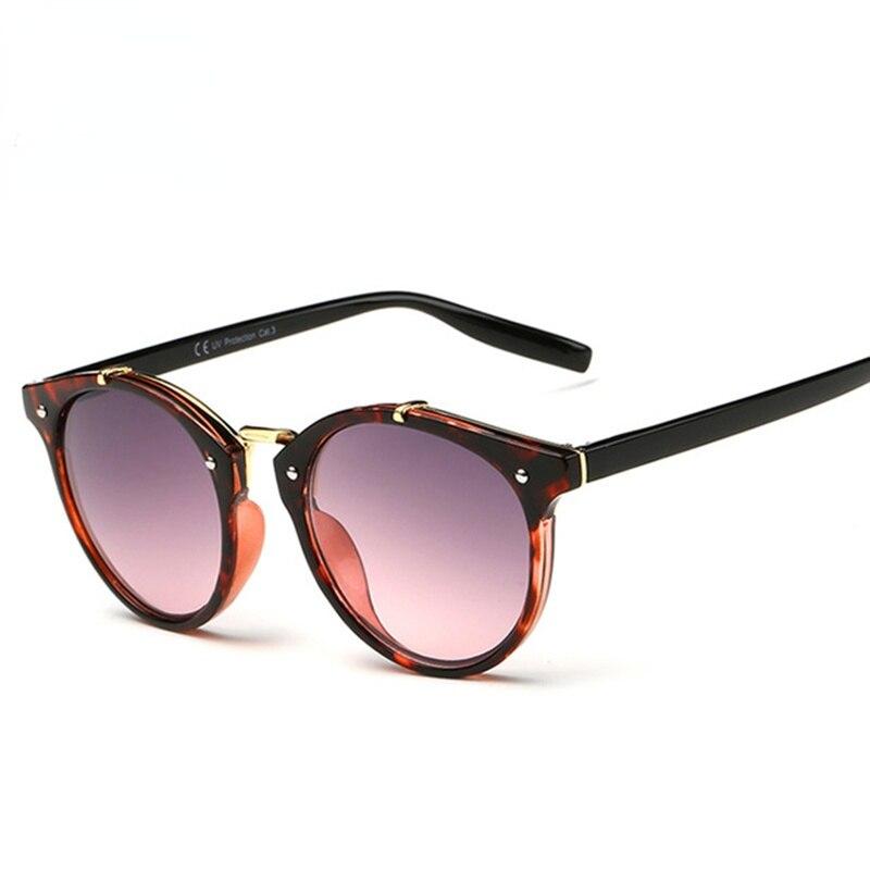 Vintage Round Sunglasses Women Brand Designer Eyewear UV400 Gradient Female Retro Sun Glasses Oculos