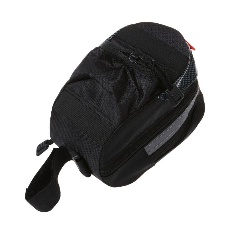 B-SOUL portátil bicicleta bolso de sillín bolso trasero estante trasero asiento trasero almacenamiento-Negro