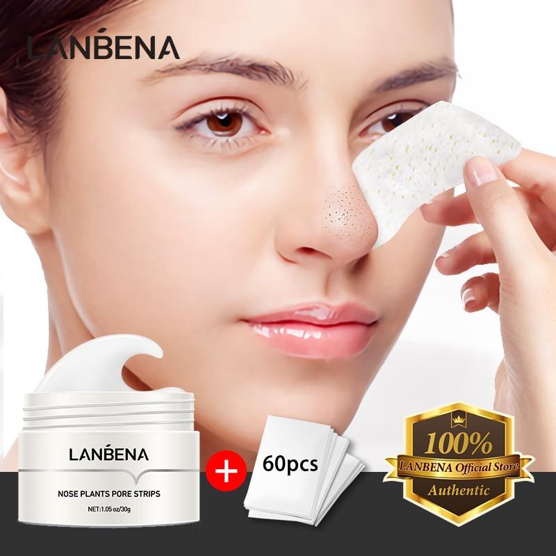 AliExpress - LANBENA Blackhead Removal Mask Nose Face Mask Deep Cleansing Acne Peeling Treatment Skin Care Plants Pore Strips Tearing 30g
